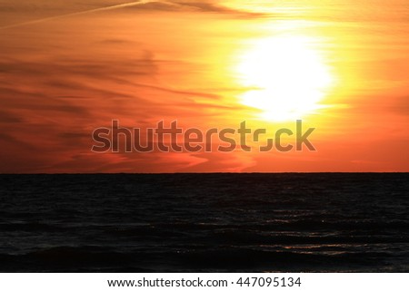 Sunset Lake Huron