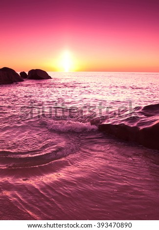 Sunset Landscape Twilight  - stock photo