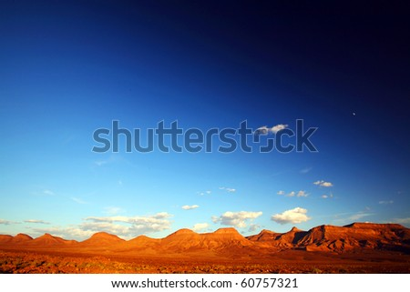 Sunset light in Atlas Mountains, Morocco, Africa - stock photo