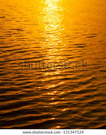 Sunset light water texture