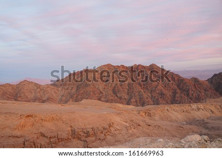 Sunset near Eilat, Yehoash mountain