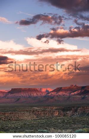 Sunset near zion national park, springdale, utah, usa - stock photo