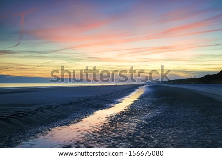 Sunset on Hilton Head Island, SC. - stock photo