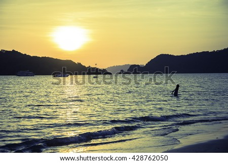 Sunset on KohMak Island