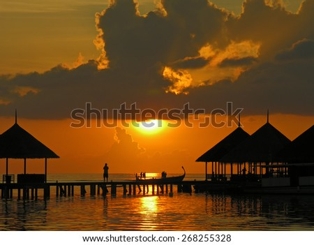 Sunset on Maldives, Kani island