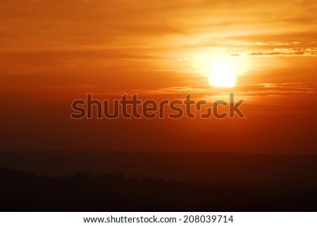 sunset on Thailand - stock photo