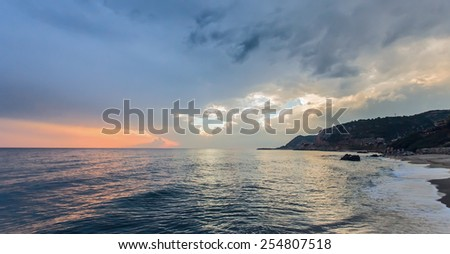 Sunset on the Alanya seascape