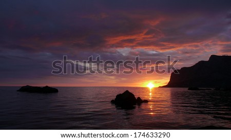 Sunset on the Black Sea