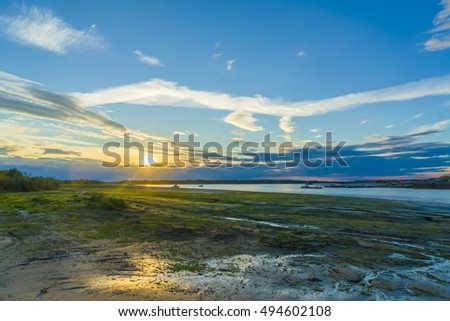 Sunset on the Irtysh River.