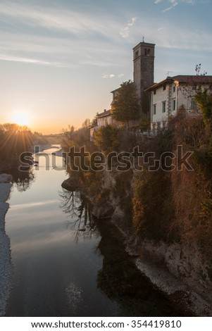 Sunset on the Natisone - Cividale del Friuli