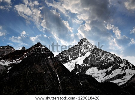 sunset on the Weisshorn - Swiss Alps