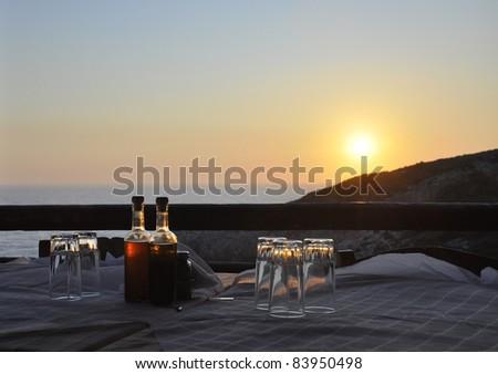 Sunset on Zakynthos - stock photo