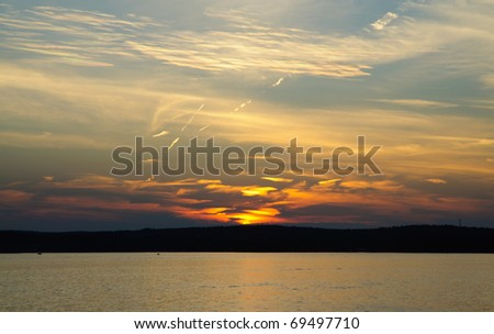 sunset over Lake Chautauqua