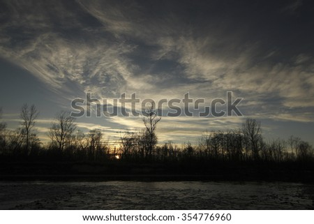 "Sunset Over Lake ""Prut"""