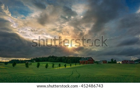 Sunset over Landscape