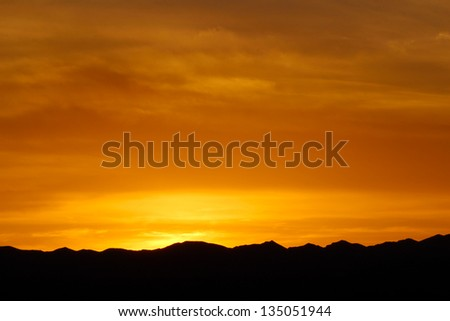Sunset over Mountains, Death Valley National Park, USA