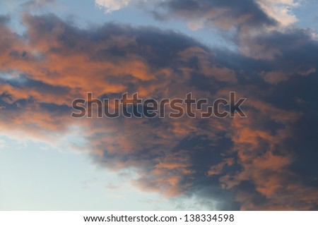 Sunset over Mt. Mansfield, Stowe, Vermont, USA - stock photo