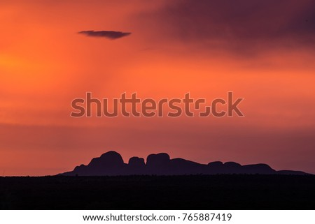 Sunset over Olgas