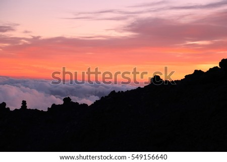 Sunset over Pico del Teide