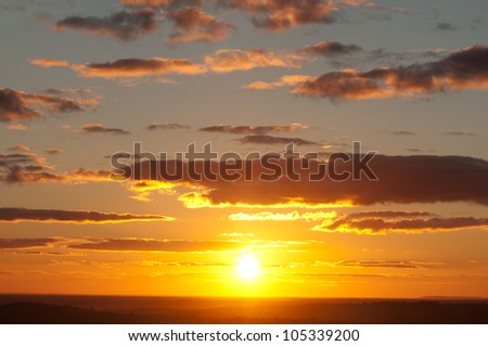 Sunset over the Barossa Valley, South Australia - stock photo