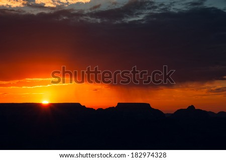 Sunset over the Grand Canyon, Arizona, USA