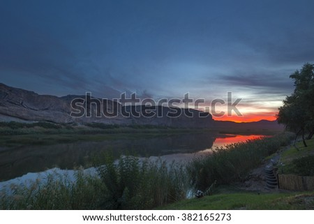 Sunset over the Orange River