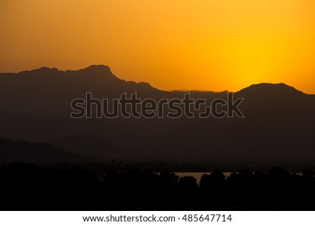 sunset over the Sierra Tramuntana (Majorca / Spain)