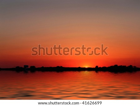 Sunset over Water.