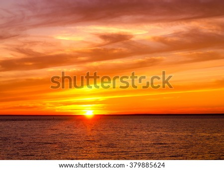 Sunset Paradise Fiery Backdrop