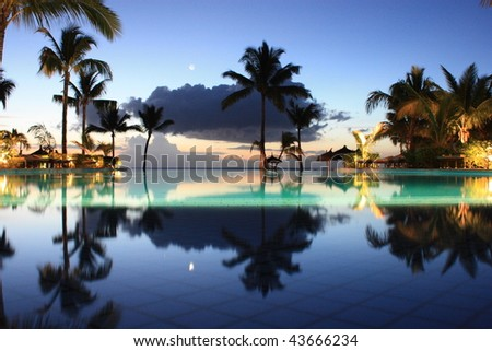 Sunset Reflections - stock photo