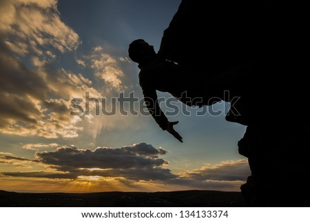 Sunset Rock Climber