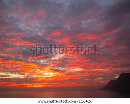 Sunset, Salsipuedes, Baja, Mexico - stock photo