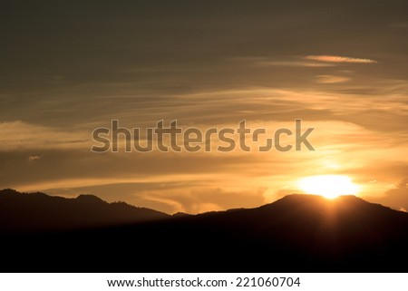Sunset scene - stock photo
