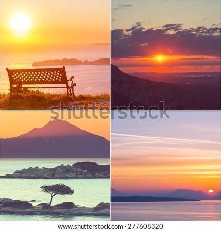 Sunset scene - stock photo