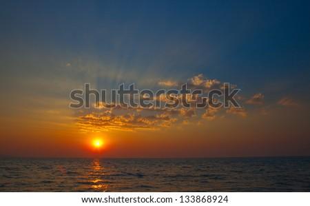 Sunset sea - stock photo