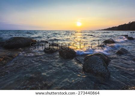 Sunset seascape - stock photo
