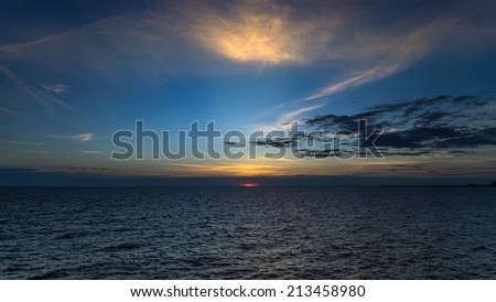 Sunset seascape, At Samed island,THAILAND - stock photo