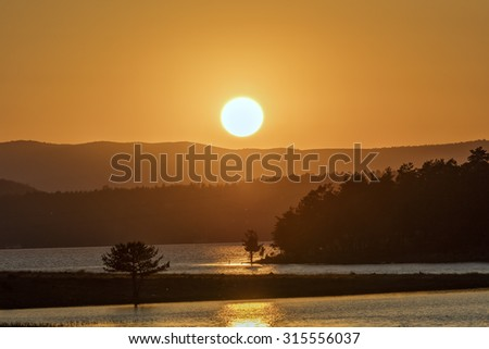 Sunset Seben Lake