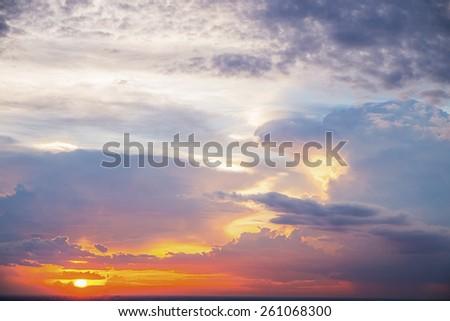 Sunset sky abstract - stock photo