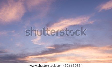 Sunset sky and clouds backgrounds - stock photo