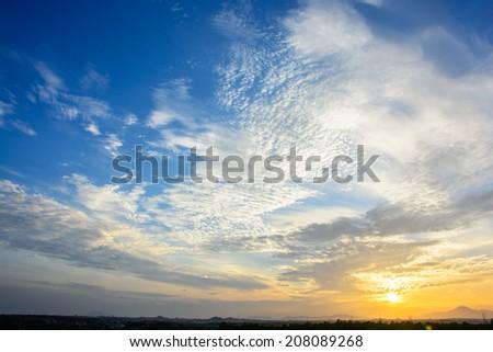 Sunset Sky Background - stock photo