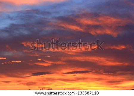 sunset sky background for design