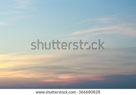 sunset sky clouds horizon background - stock photo