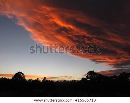 Sunset Sky in Sandwash Basin, Colorado
