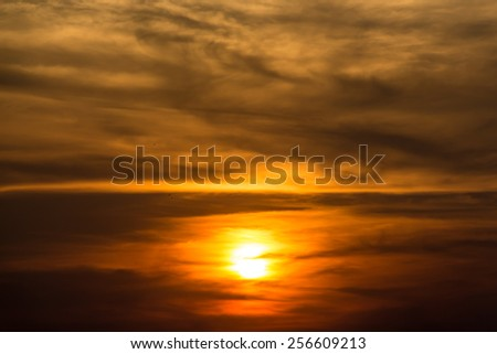 Sunset sky scape background
