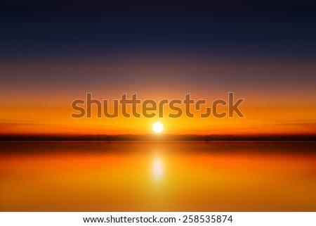 sunset sky, thailand. - stock photo