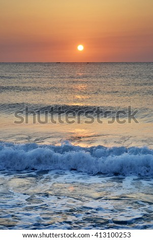 Sunset/ sunrise on a beach, Bulgaria.