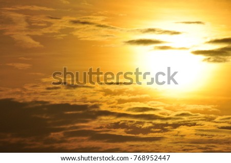 Sunset / sunrise with clouds, light rays and other atmospheric effect .Beautiful nature background. Colorful sunset. Beauty world.bright sunset photo