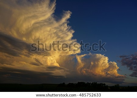 sunset thunderstorm