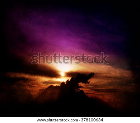 Sunset view, abstract sky background